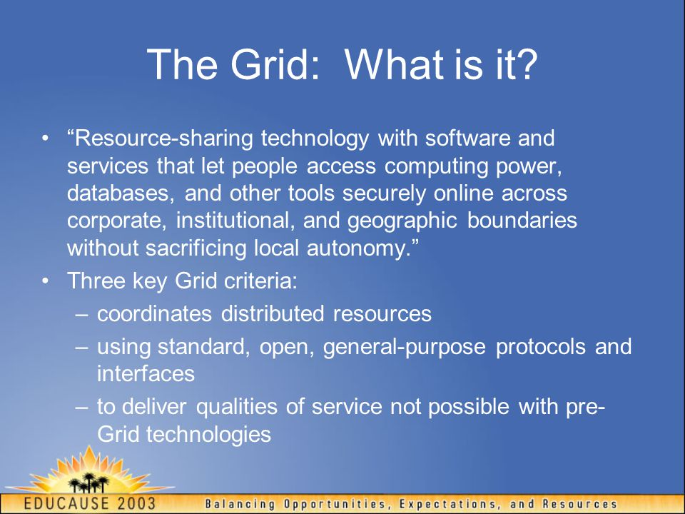 The Grid: What is it.