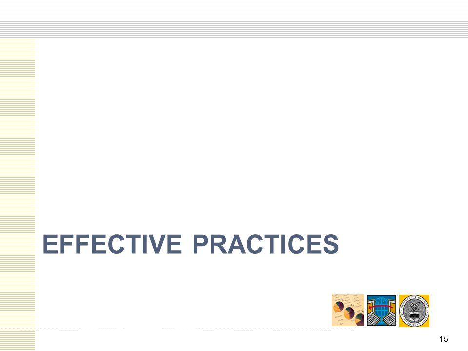 EFFECTIVE PRACTICES 15
