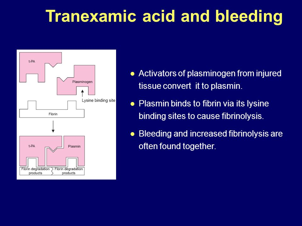 ● Activators of plasminogen from injured tissue convert it to plasmin. ● Plasmin binds to fibrin via its lysine binding sites to cause fibrinolysis. ●
