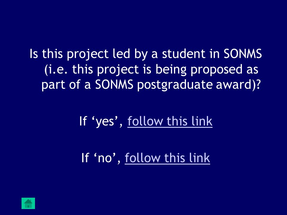 Is this project led by a student in SONMS (i.e.