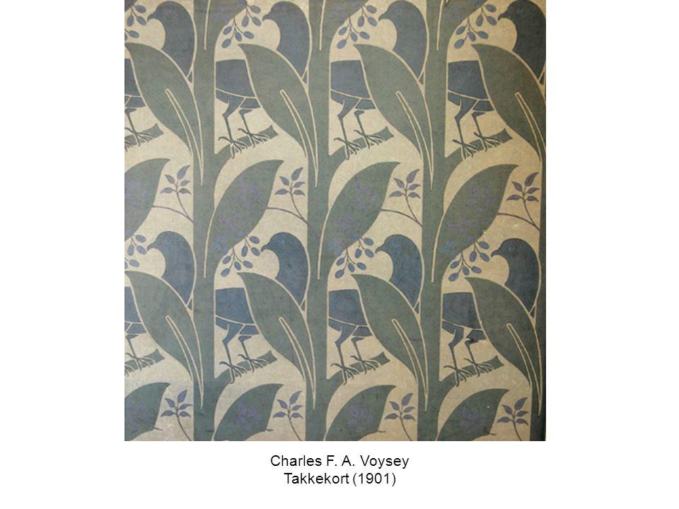 Charles F. A. Voysey Takkekort (1901)