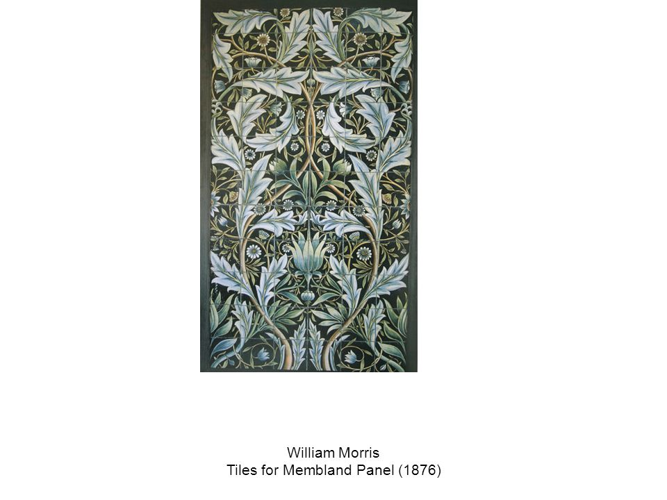 William Morris Tiles for Membland Panel (1876)
