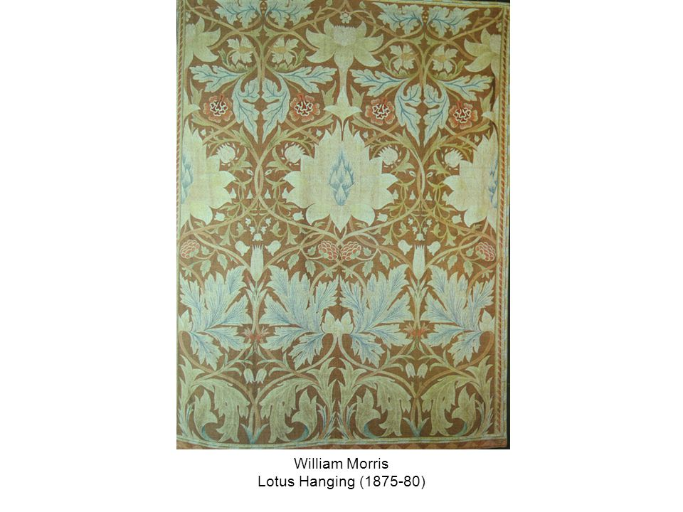 William Morris Lotus Hanging (1875-80)