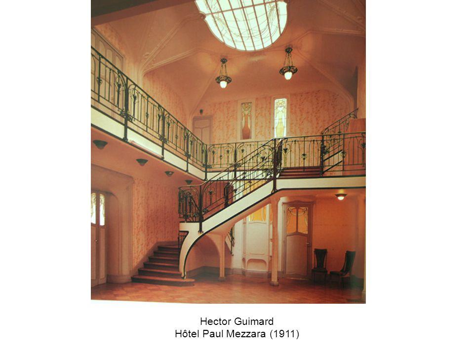 Hector Guimard Hôtel Paul Mezzara (1911)