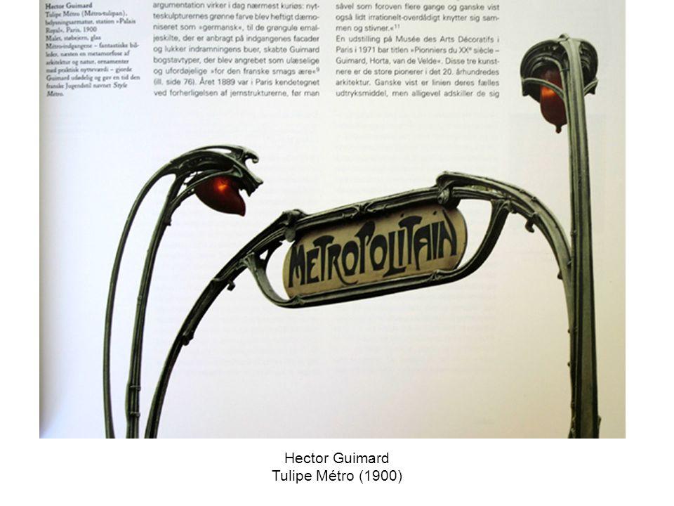 Hector Guimard Tulipe Métro (1900)