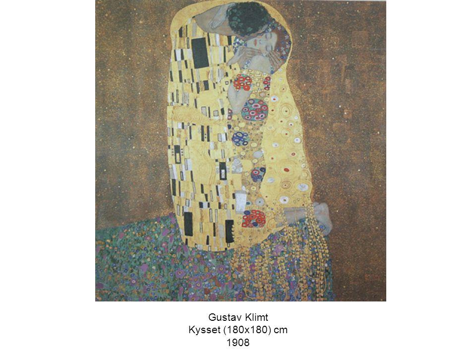 Gustav Klimt Kysset (180x180) cm 1908
