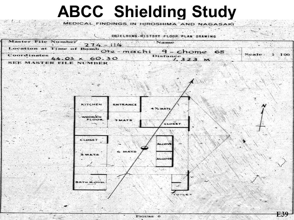 ABCC Shielding Study E39