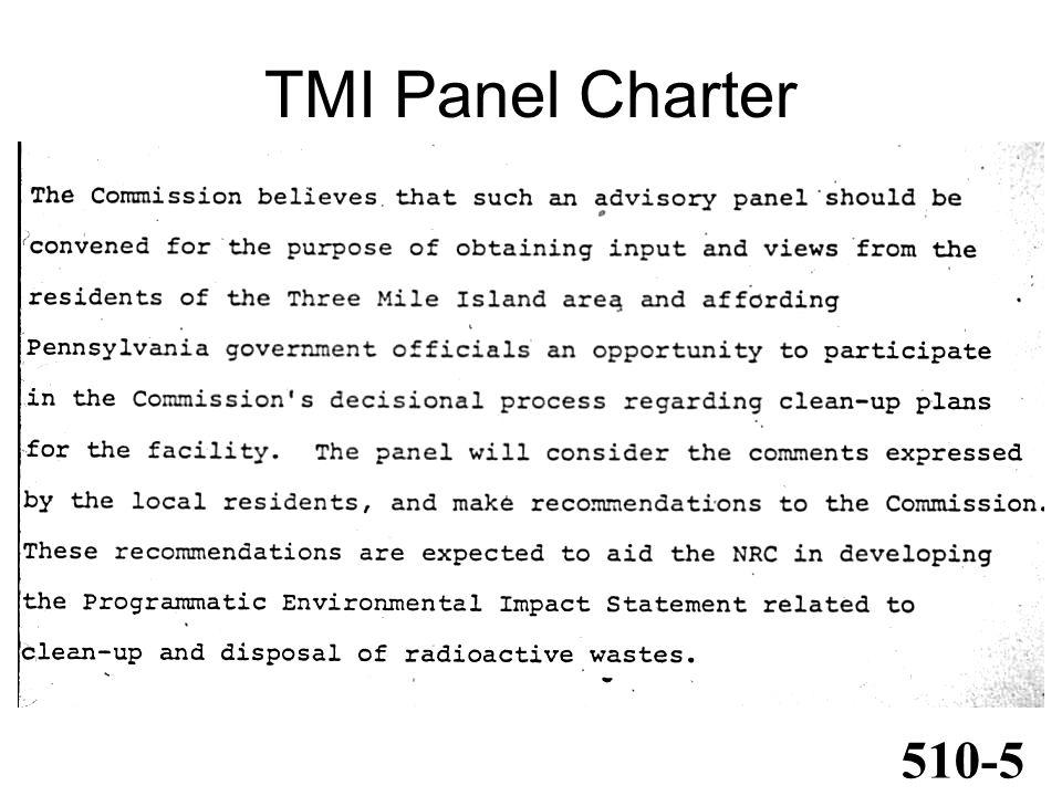 TMI Panel Charter 510-5