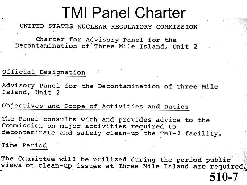 TMI Panel Charter 510-7