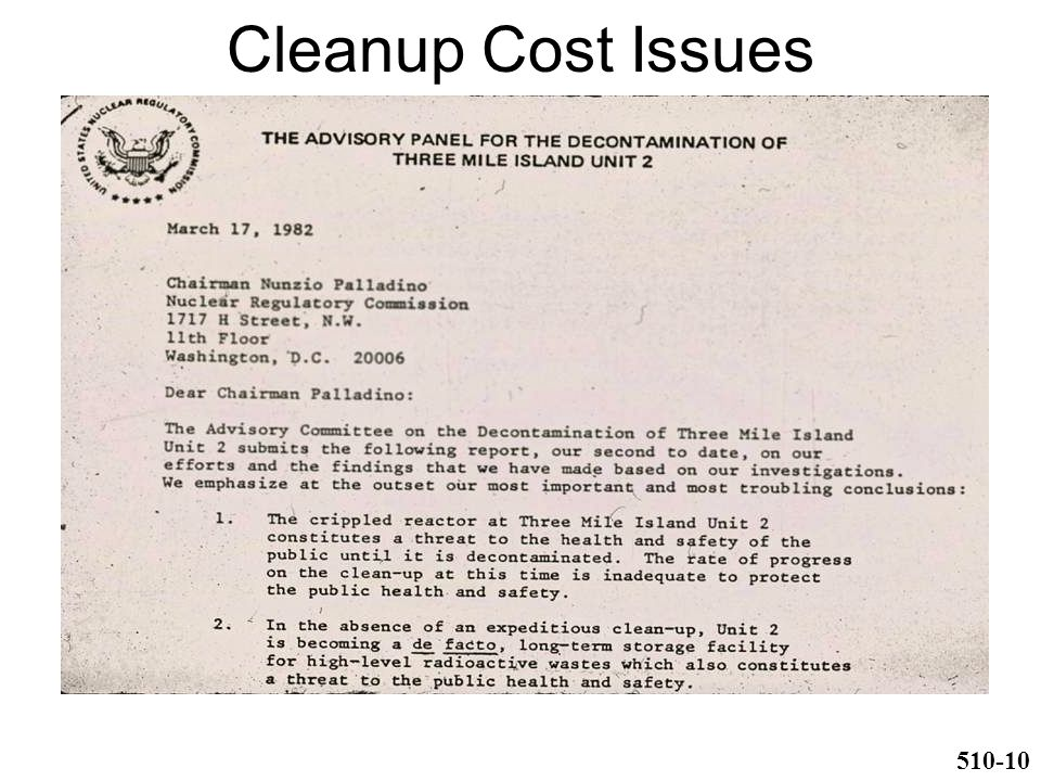 Cleanup Cost Issues 510-10