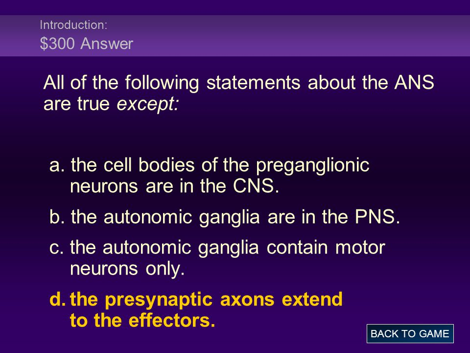Receptors: $400 Question Muscarinic receptors differ from nicotinic receptors in that __________.