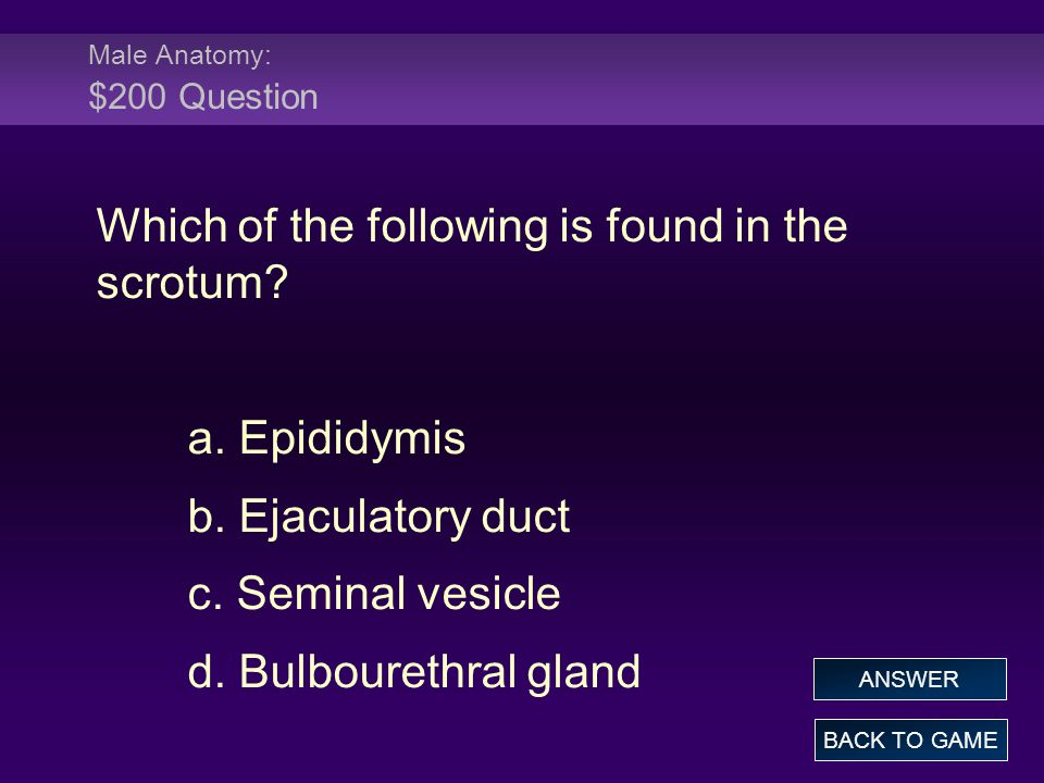 Female Physiology: $200 Answer Fertilization occurs in the: a.
