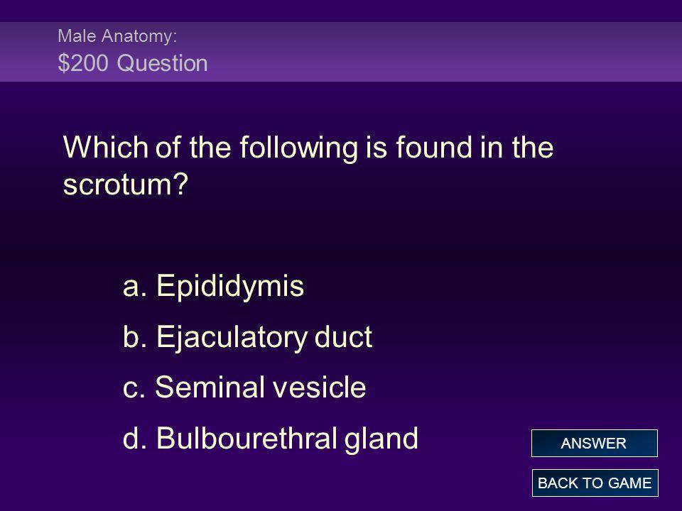 Female Anatomy: $200 Answer Where are fimbriae found.
