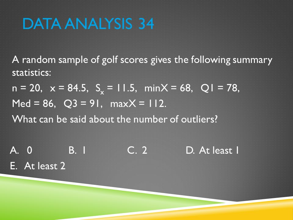 DATA ANALYSIS 43 To which of the following histograms can the boxplot correspond?
