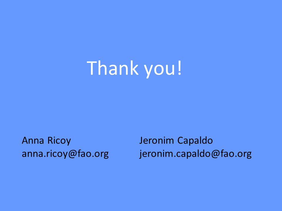 Thank you! Anna Ricoy Jeronim Capaldo