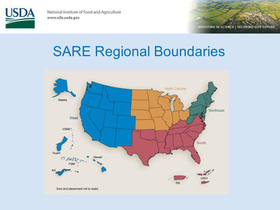 SARE Regional Boundaries