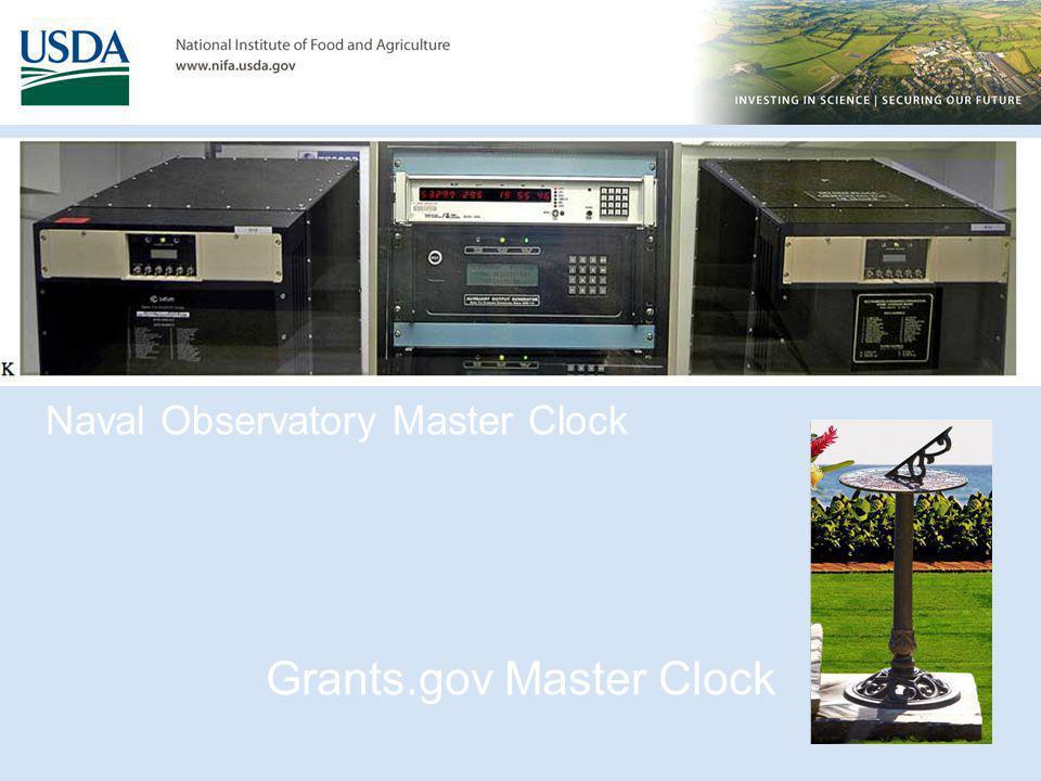 Naval Observatory Master Clock Grants.gov Master Clock