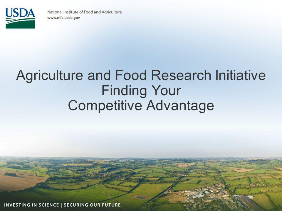 Who Gets Agriculture and Food Research Initiative Grants.
