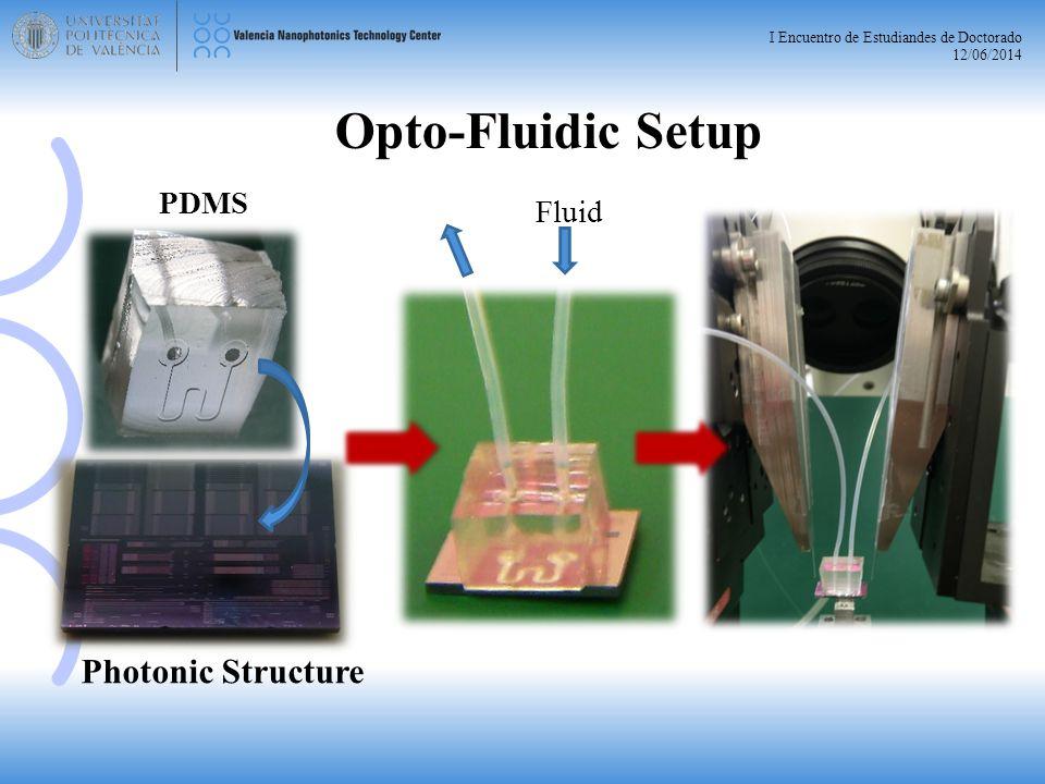 I Encuentro de Estudiandes de Doctorado 12/06/2014 Photonic Structure PDMS Opto-Fluidic Setup Fluid