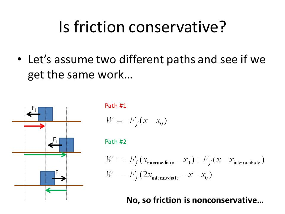 Is friction conservative.