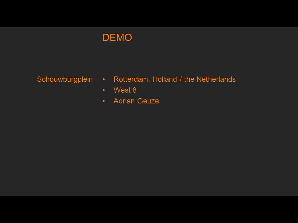 DEMO Rotterdam, Holland / the Netherlands West 8 Adrian Geuze Schouwburgplein