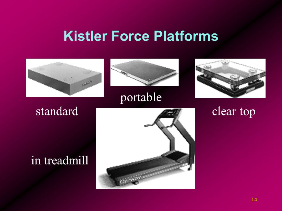 14 Kistler Force Platforms standard in treadmill clear top portable