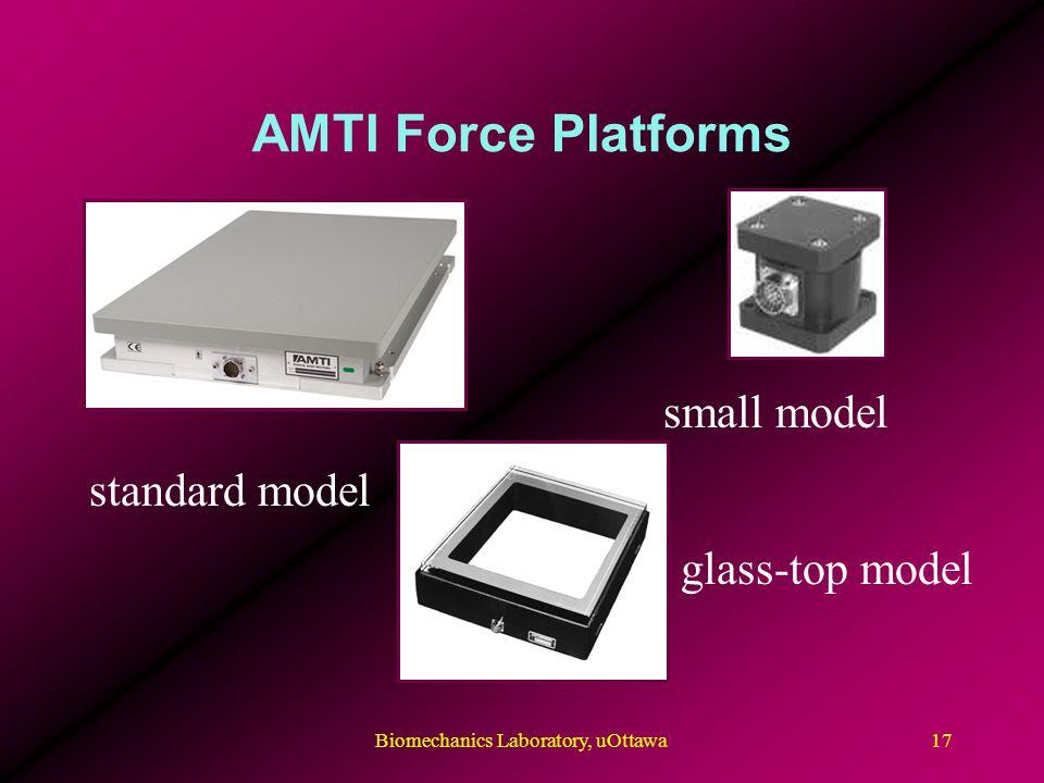 AMTI Force Platforms small model standard model glass-top model 17Biomechanics Laboratory, uOttawa