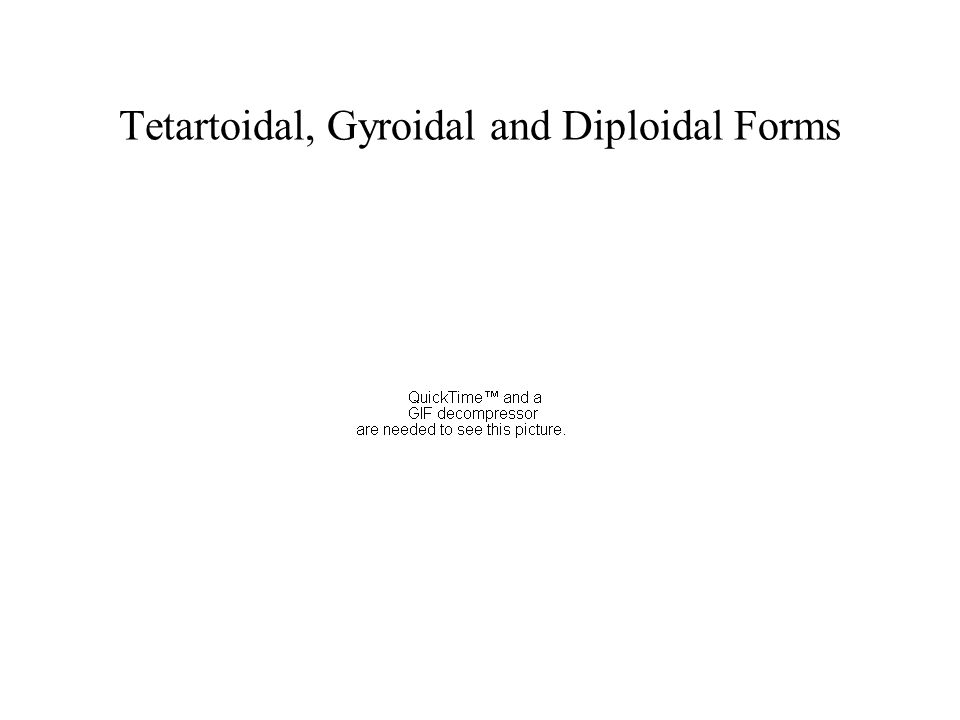 Tetartoidal, Gyroidal and Diploidal Forms