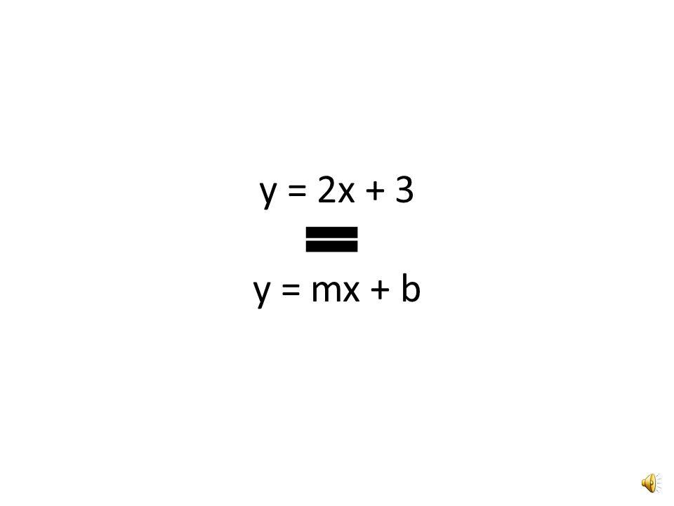 y = 2x + 3