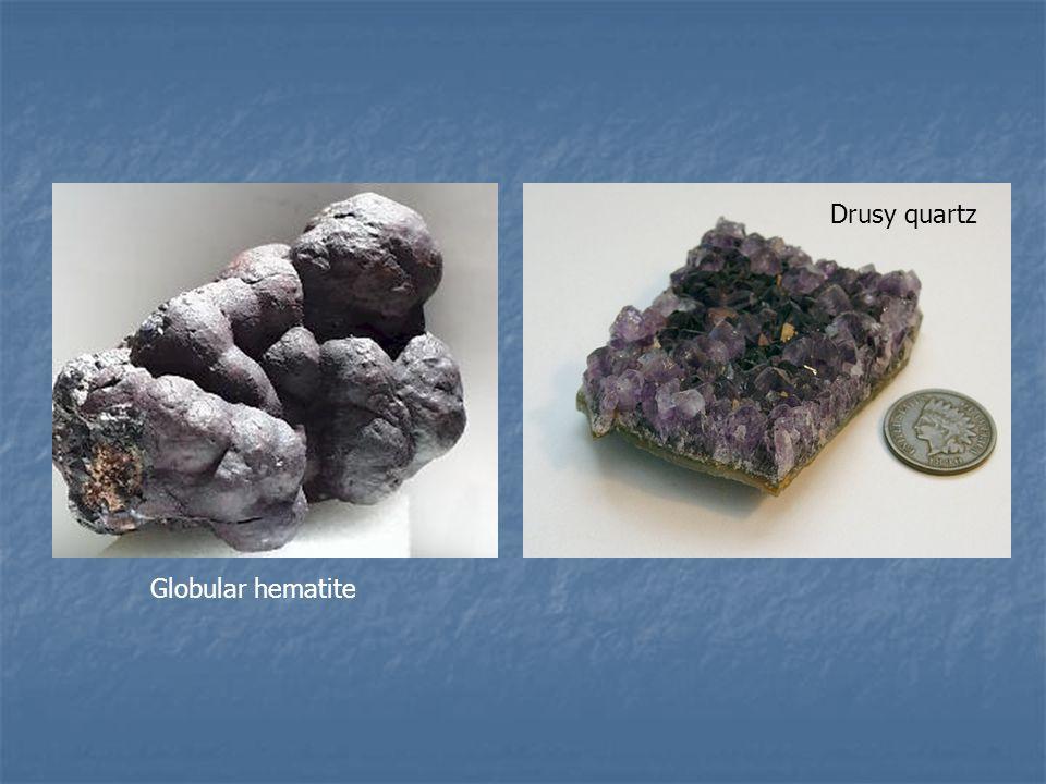 Globular hematite Drusy quartz