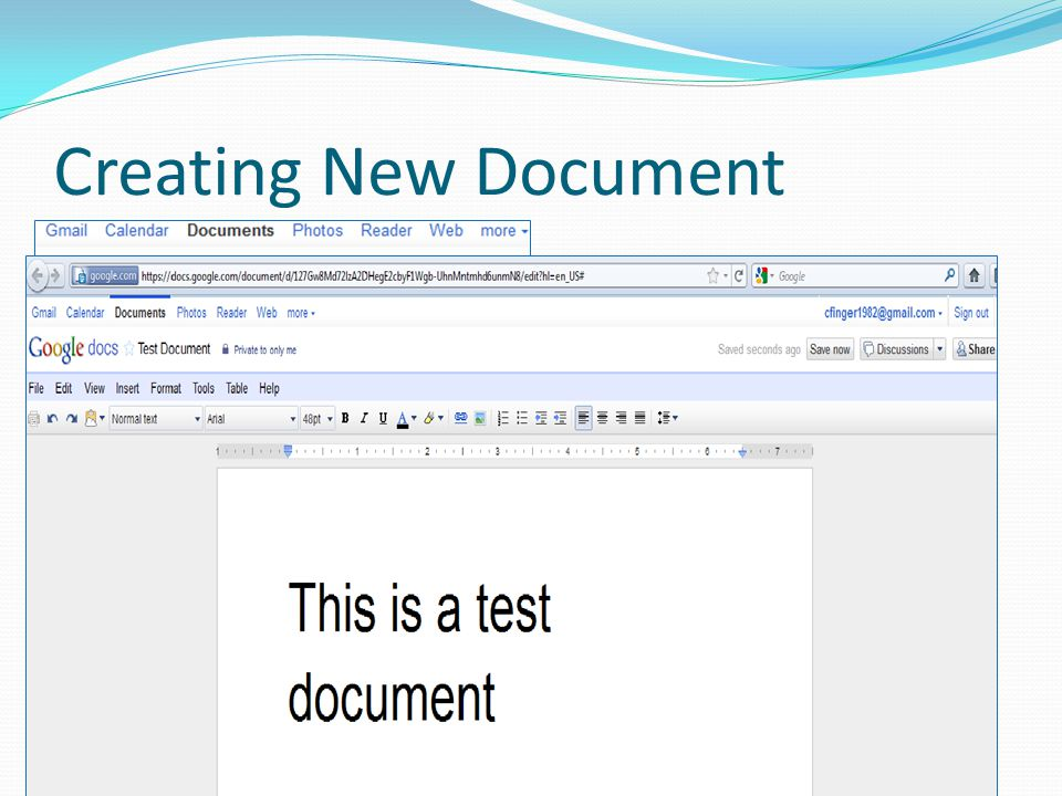 Creating New Document