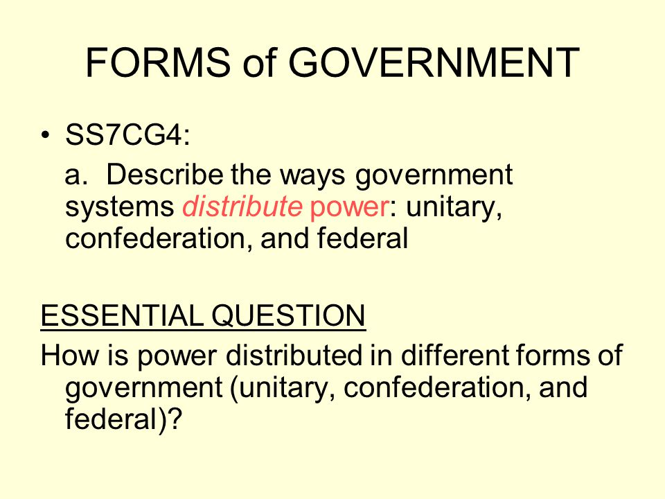 Social Studies Theme: GOVERNANCE The student will understand that as society increases in complexity and interacts with other societies, the complexity of the government increases.
