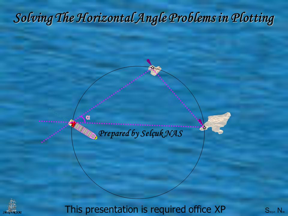 S elçuk N as SELÇUK NAS Selçuk Nasα Solving The Horizontal Angle Problemsin Plotting Solving The Horizontal Angle Problems in Plotting This presentation is required office XP Prepared by Selçuk NAS