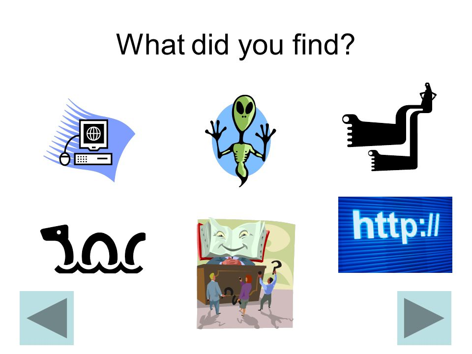 What did you find?