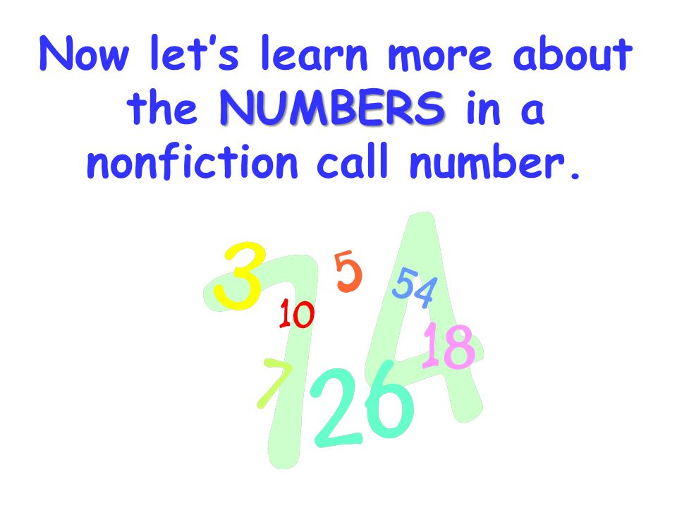 Recipe for making a nonfiction number: 818 PRE Numbers for subject area First 3 letters of author's last name Numbers & Letters