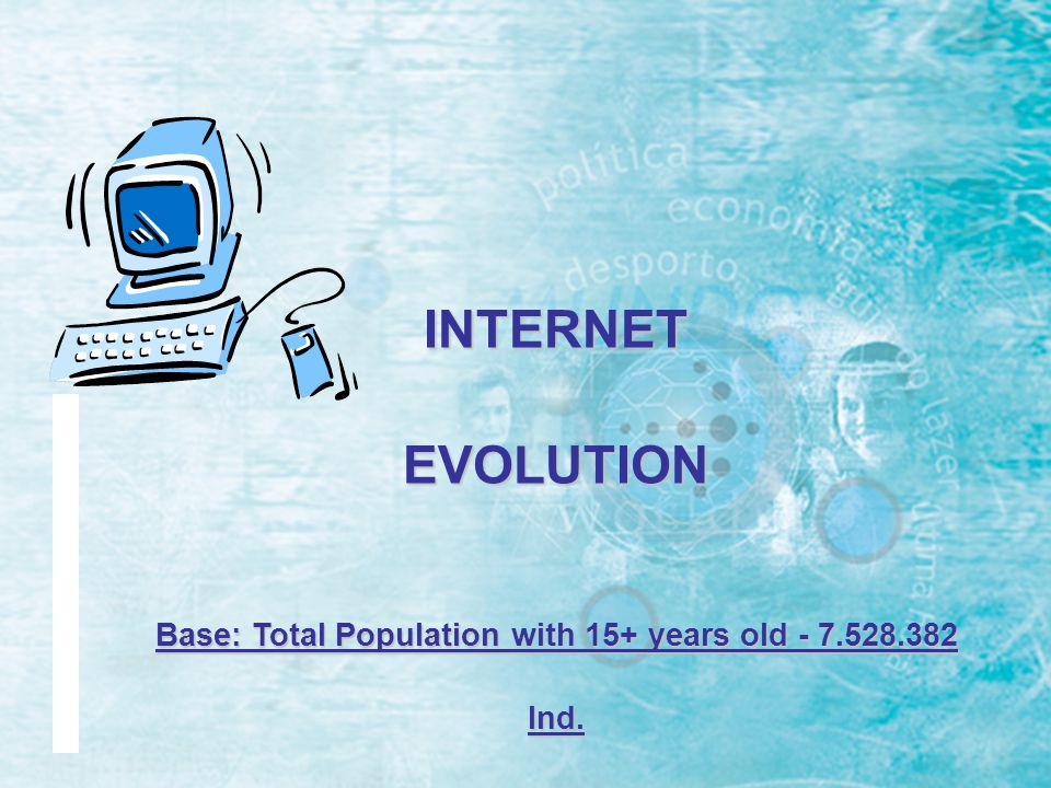 % INTERNET INDICATORS Universe: 7.528.382 individ.