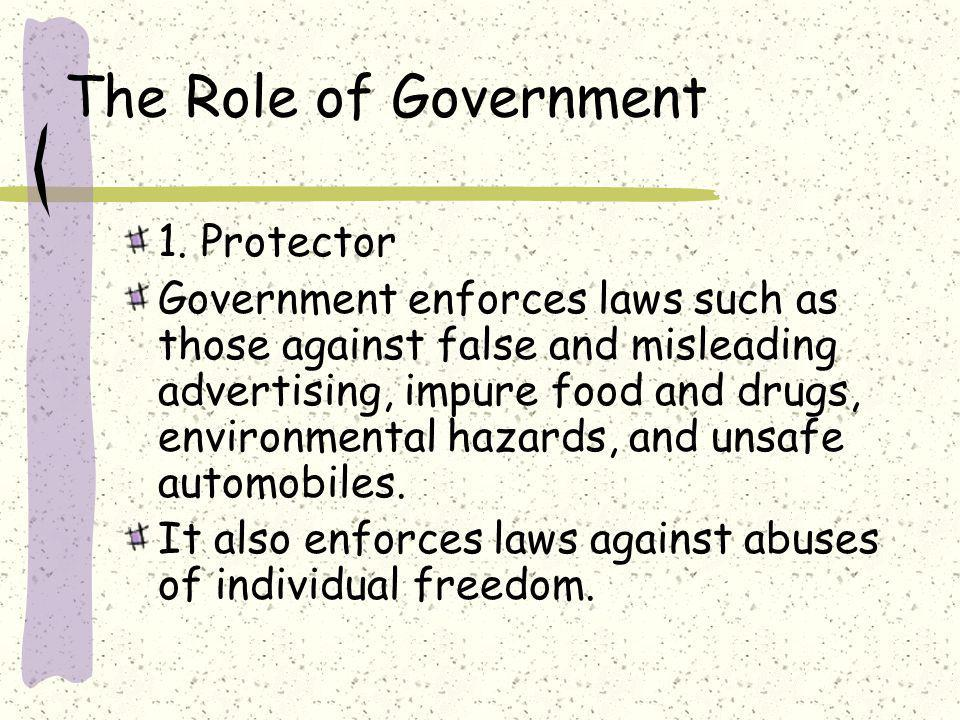The Role of Government 1.