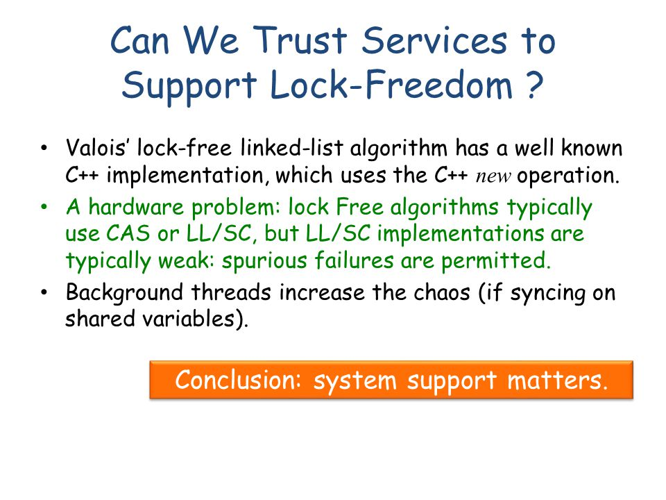 Can We Trust Services to Support Lock-Freedom .