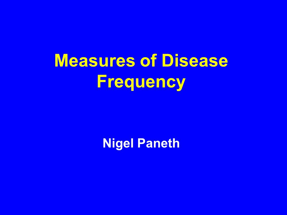FRACTIONS USED IN DESCRIBING DISEASE FREQUENCY RATIO A fraction in which the numerator is not part of the denominator.