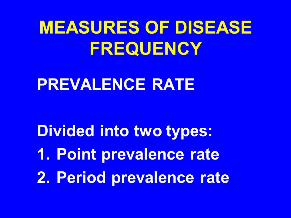 Proportion of individuals in a specified population at risk who have the disease of interest at a given point in time.