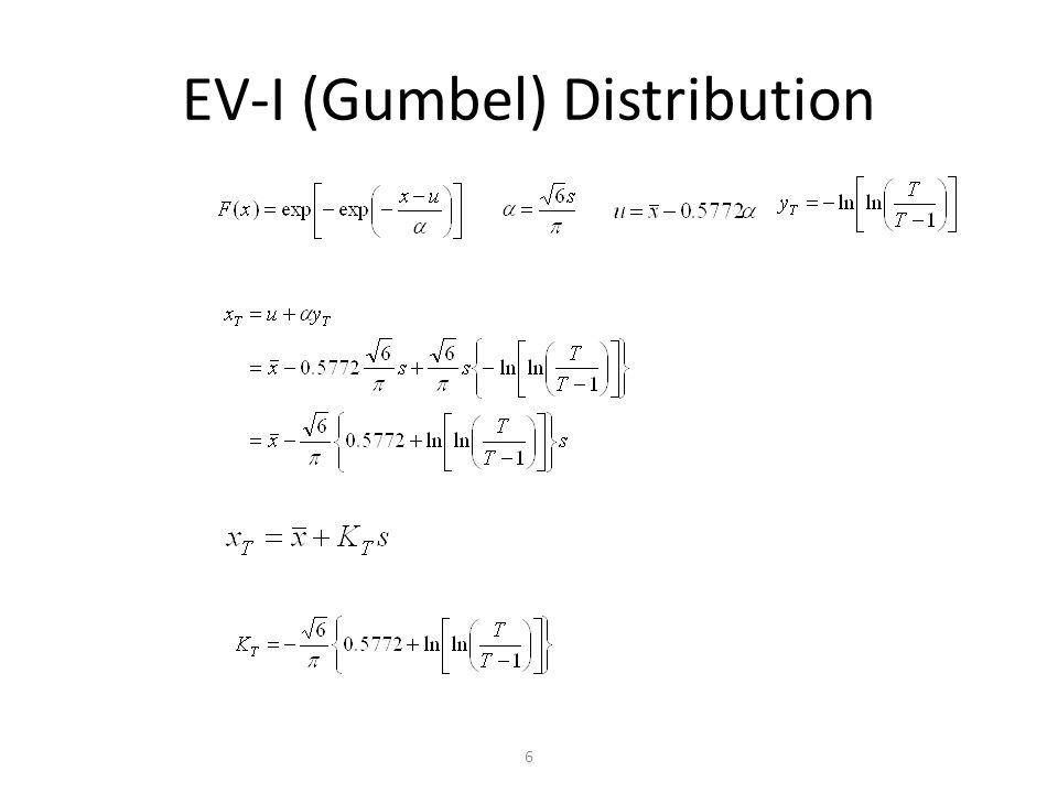 6 EV-I (Gumbel) Distribution