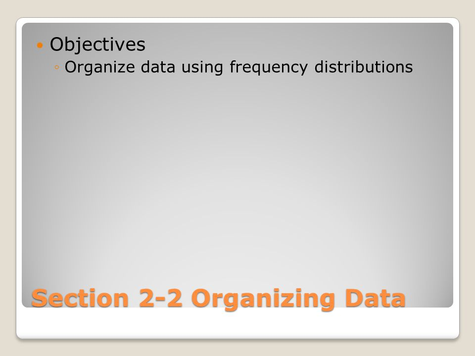 What is a Frequency Distribution.