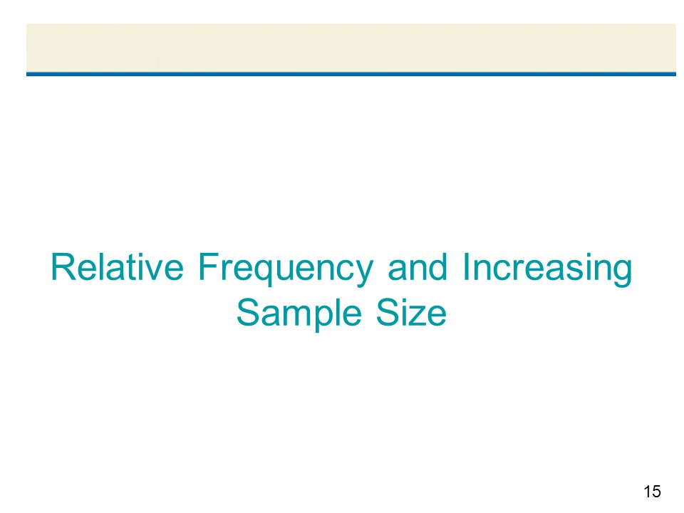 15 Relative Frequency and Increasing Sample Size