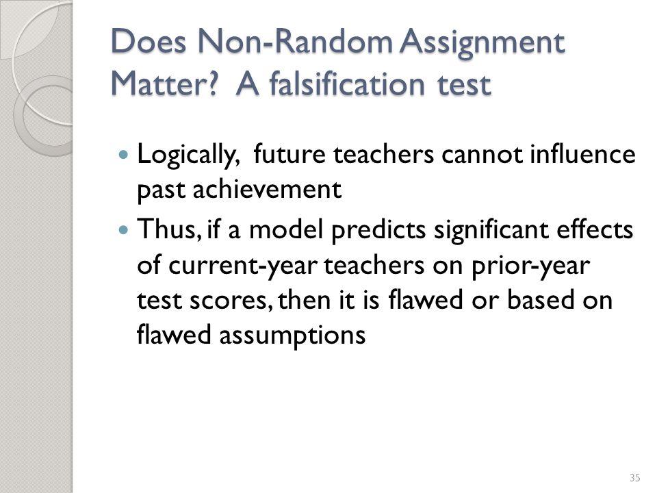 Does Non-Random Assignment Matter.