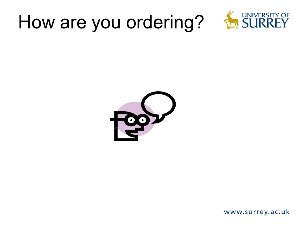 How are you ordering?