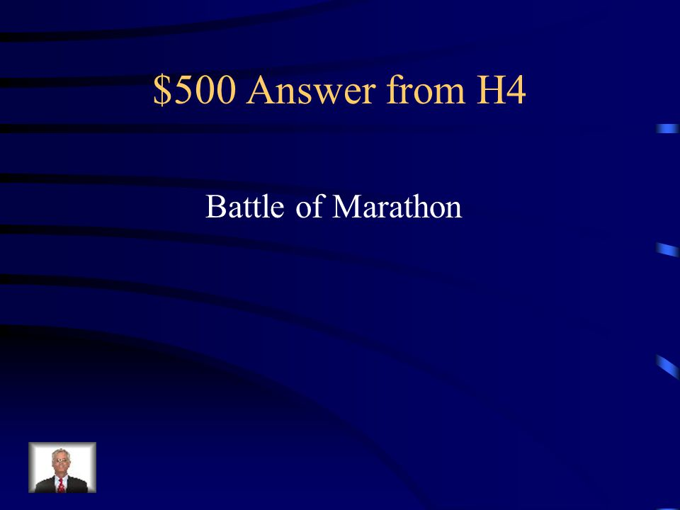 $500 Question from H4 Battle that proved to be a Persian loss in 490 B.C.E.