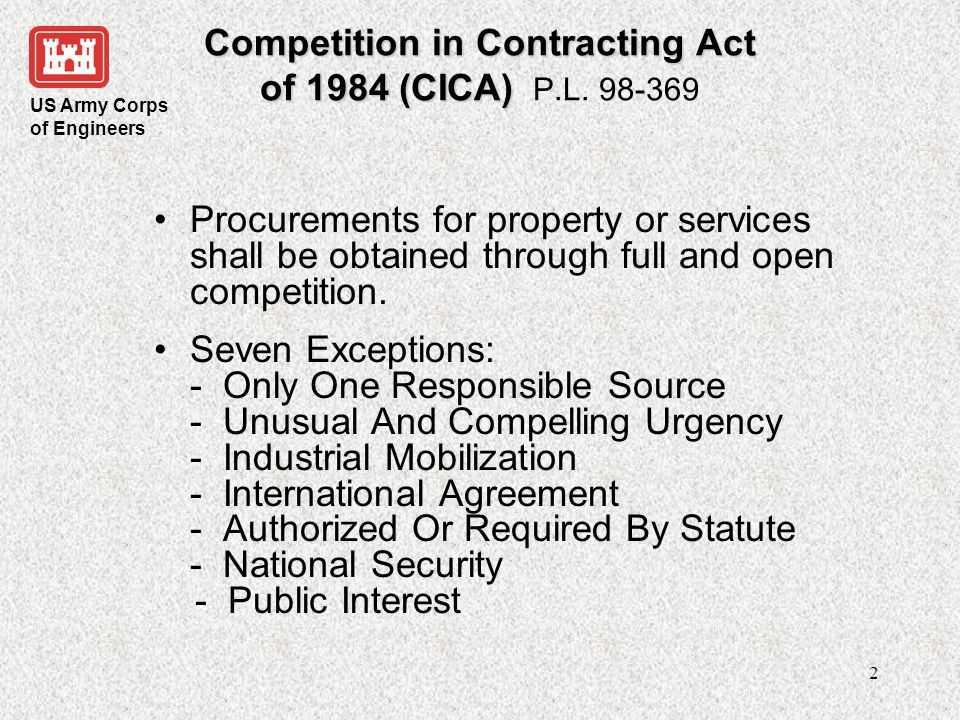 US Army Corps of Engineers 3 What is a J&A.