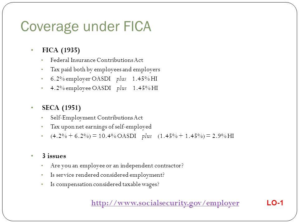 Independent Contractor (SECA) vs.