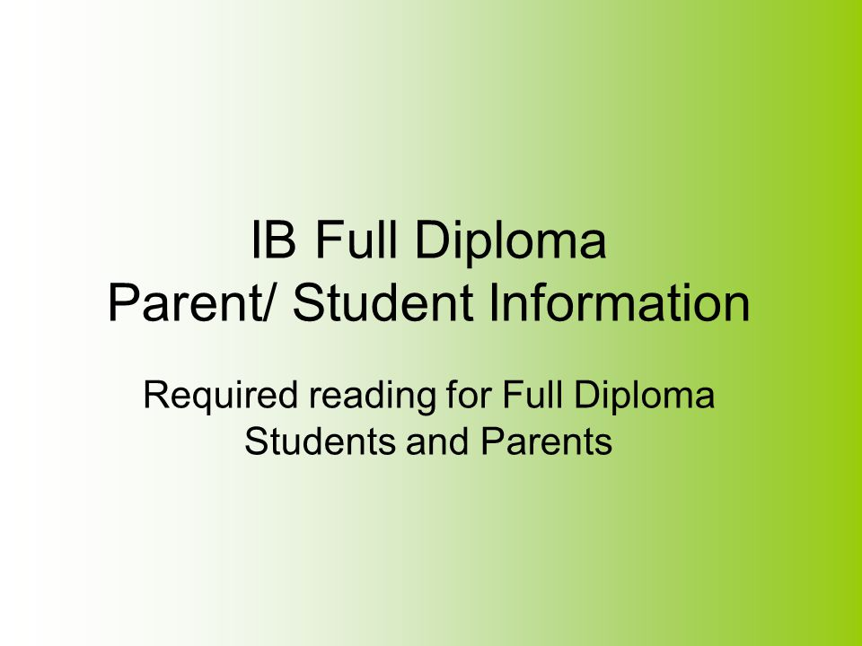 IB Fees The school pays an annual fee to IB that provides services such as access to materials, resources, and personnel that support our IB program at St.