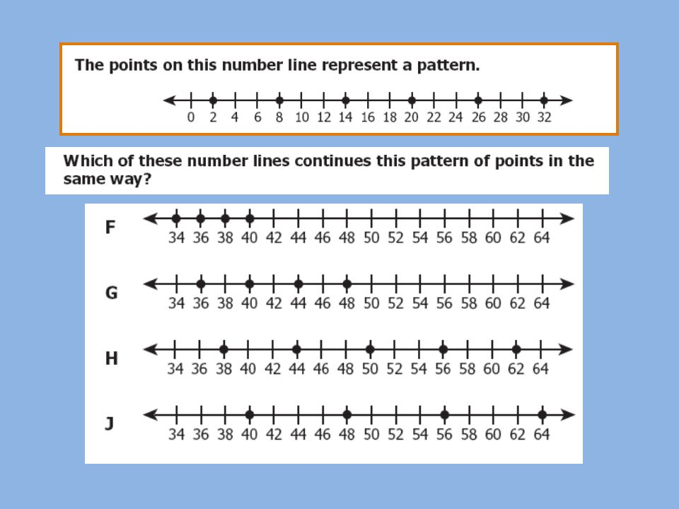 The first step is to determine the rule for the pattern.